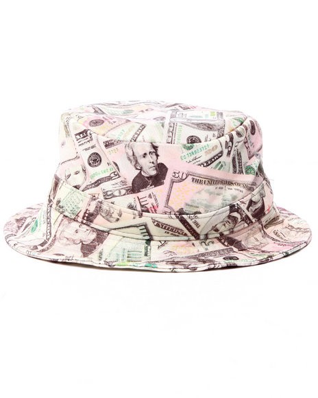 Buyers Picks Men Money Bucket Hat Multi