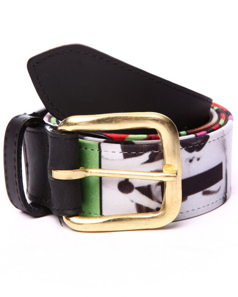 Buyers Picks - Men Black Pradagy Hot Lips Ii Belt
