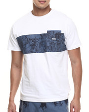 Men - Linen Colorblock T-Shirt