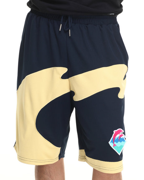 Ur-ID 219470 Pink Dolphin - Men Navy Nu Wave B - Ball Shorts