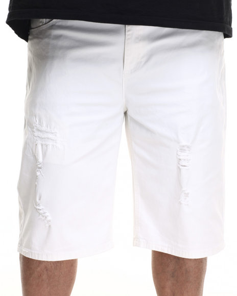 Winchester - Men Off White Baltimore Rip & Repair Twill Shorts (B&T) - $22.99