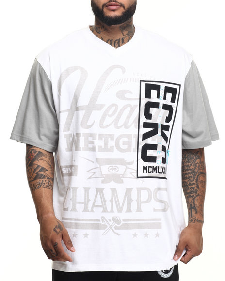 Ecko - Men White Heavy Weight Champs T-Shirt (B&T) - $40.00