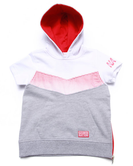 Parish - Boys Grey Half Tone Hooded Pullover (2T-4T)
