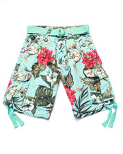 Sizes 8-20 - Big Kids - FLORAL TWILL CARGO SHORTS (8-20)