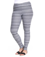 Bottoms - Tribal Cotton Legging (Plus)