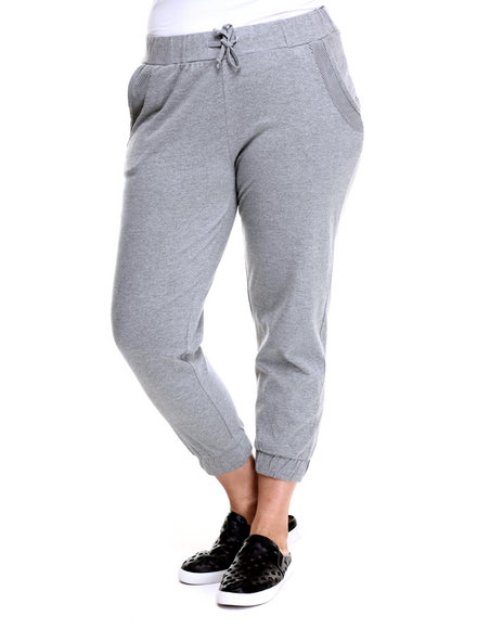 Ur-ID 219383 Baby Phat - Women Grey Active Capri Jogger (Plus)