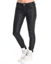 Fashion Lab - Coated Stretch Denim Skinny Jean