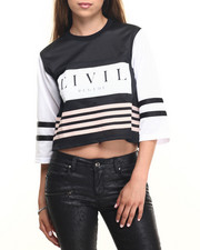 Tees - Team Focused & Fierce Crop Jersey