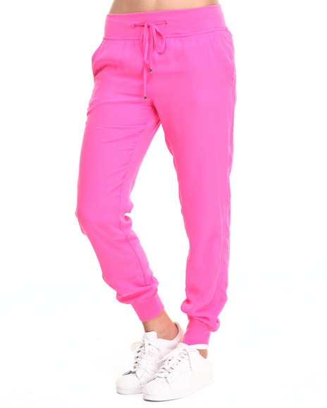 Fashion Lab - Women Pink Chiffon Jogger