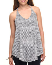 Fashion Lab - Tribal Print Woven Print Tank