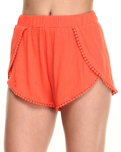 Ur-ID 219567 Fashion Lab - Women Orange Soft Chiffon Short