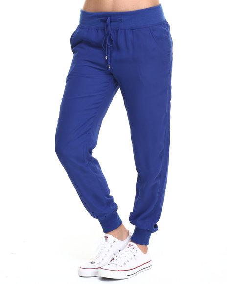 Ur-ID 219569 Fashion Lab - Women Blue Chiffon Jogger