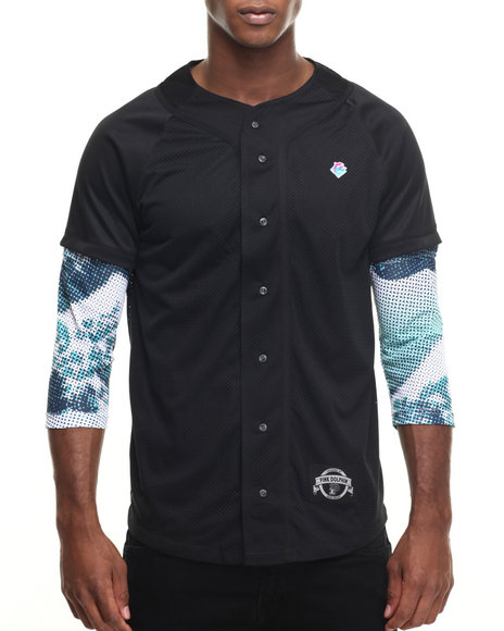 Pink Dolphin Black Button-Downs