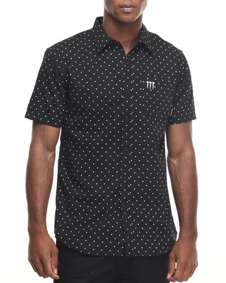 Pink Dolphin - Men Black Promo Button - Down