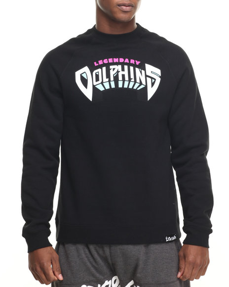 Pink Dolphin Black Pullover Sweatshirts