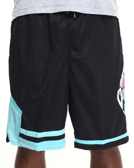 Pink Dolphin - Men Black Legendary Dolphins Mesh Shorts