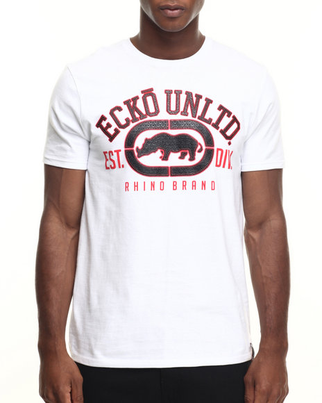 Ecko - Men White The Rhino Remains T-Shirt