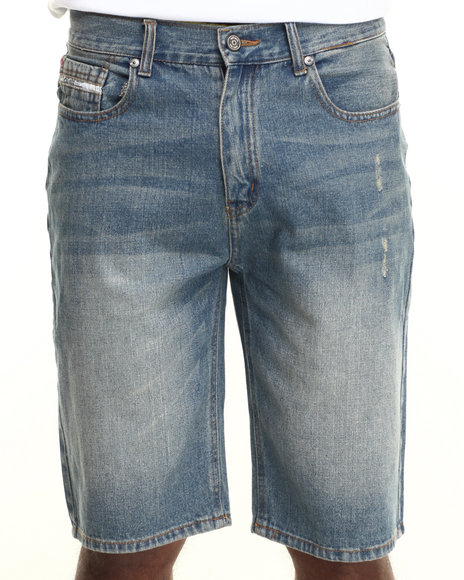 Ecko - Men Light Wash Relaxed Denim Short