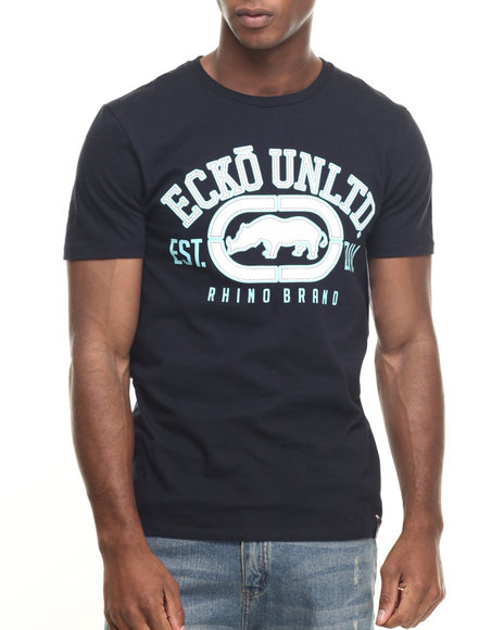 Ecko - Men Navy The Rhino Remains T-Shirt