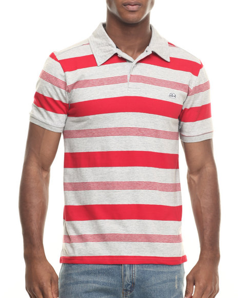 Ecko - Men Grey,Red One The Rise Stripe Polo