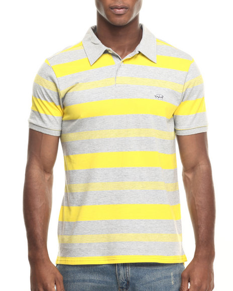 Ecko - Men Grey,Yellow One The Rise Stripe Polo