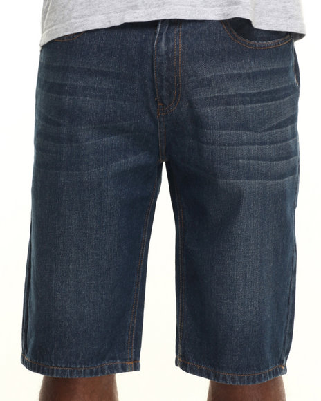 Ecko - Men Dark Wash Relaxed Denim Short