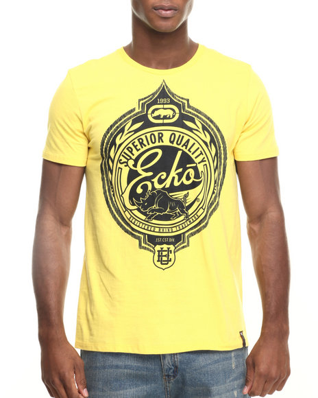 Ur-ID 219547 Ecko - Men Yellow Still Superior T-Shirt