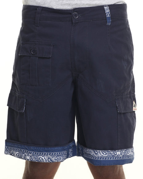 Ur-ID 219553 Winchester - Men Navy San Antonio Detail Interior Trim Cargo Shorts