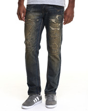 Men - Rip - Off Straight - Fit Denim Jeans