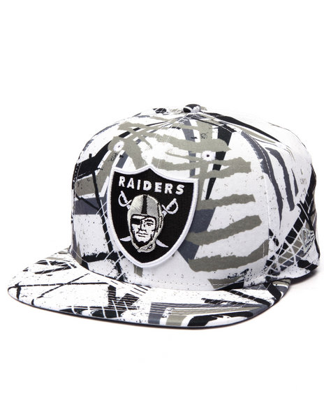 New Era Men Oakland Raiders Geomet Trick 950 Snapback Hat Multi