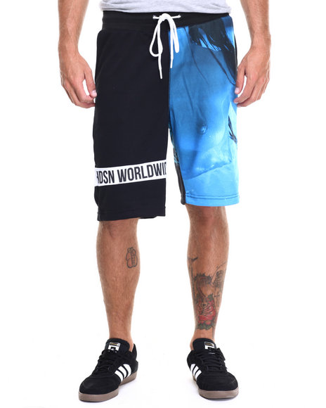 Hudson Nyc - Men Blue Shark Girl Drawstring Shorts