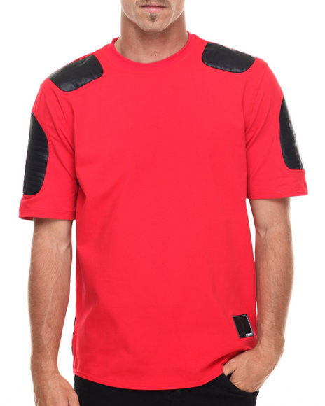 Hudson Nyc - Men Red Striker Moto S/S Tee
