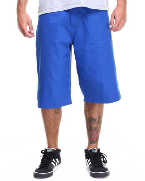 Enyce - Men Blue Highroad Cotton Twill Shorts