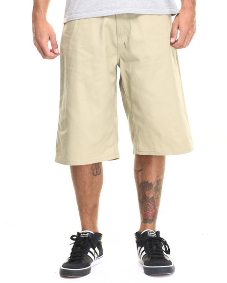 Enyce - Men Khaki Highroad Cotton Twill Shorts