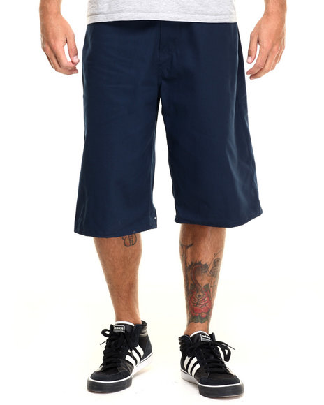 Enyce - Men Navy Highroad Cotton Twill Shorts