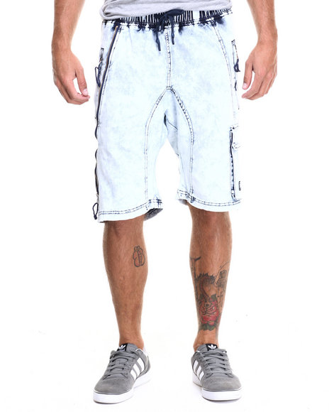 Hudson Nyc - Men Light Wash Tech 2.0 Double Cargo Shorts