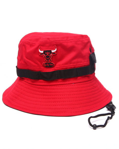 Ur-ID 217165 New Era - Men Red Chicago Bulls Adventure Bucket Hat