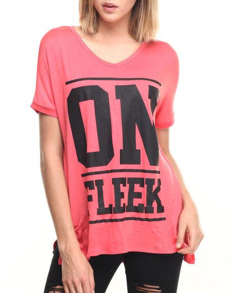 Ur-ID 219620 Fashion Lab - Women Pink On Fleek Oversized Tee