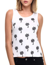 Fashion Lab - Palm Trees Jersey Tee