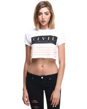 Tees - Team Focused & Fierce Crop Boyfriend Tee