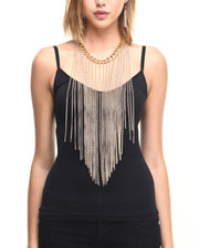 Jewelry - Chain & Fringe Long Drape Necklace w/ Earrings