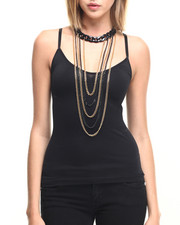 Jewelry - Chain Choker & Drape Necklace