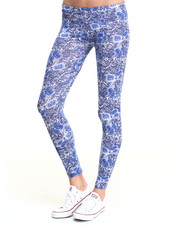 Bottoms - Floral Print Cotton Legging