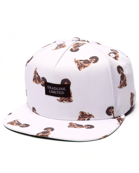 Ur-ID 223309 Deadline - Men White Biggie Baby Strapback Cap