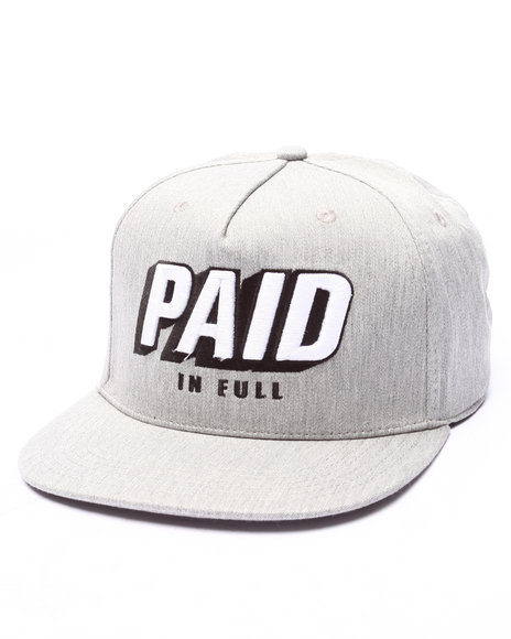 Ur-ID 223310 Rocksmith - Men Grey Paid Snapback