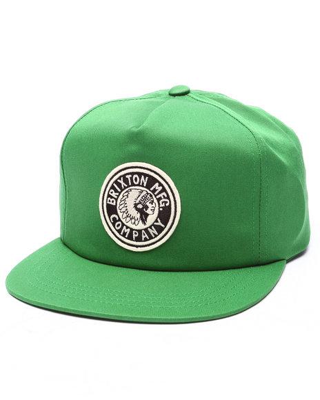 Ur-ID 223313 Brixton - Men Green Rival Hp Snapback Cap