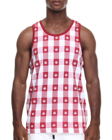 Lrg - Men Red Leaf Blower Tank - $17.99