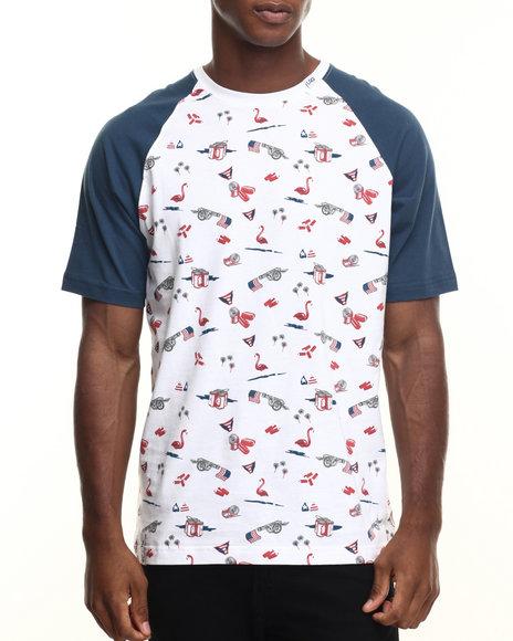 Lrg Men July 4Th T-Shirt White X-Large