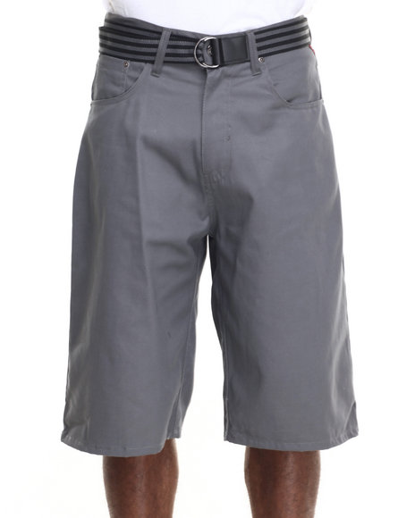 Enyce - Men Grey Highroad Cotton Twill Shorts