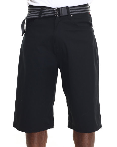 Enyce - Men Black Highroad Cotton Twill Shorts